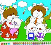 Hra - Bear Family Coloring