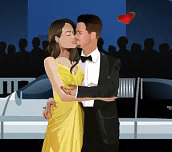 Brad and Angelina Kiss