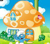 Hra - Dekorace šmoulího domečku