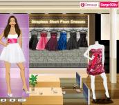 Hra - Strapless Short Prom Dresses