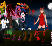Hra - HalloweenGirlDressUp