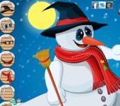Hra - Happy Snowman Dress Up