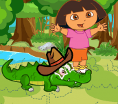 Hra - Dora Care Baby Crocodile