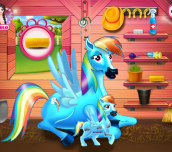 Hra - RainbowDashPonyAndTheNewbornBaby