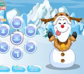 Hra - Anna & Elsa Build Snowman