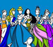 Hra - DisneyPrincessColoring