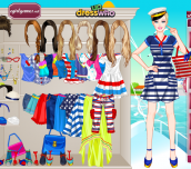 Barbie Navy Style Dress Up