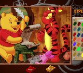 Hra - Winnie The Pooh Online Coloring Page