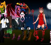 Hra - HalloweenGirlDressUp