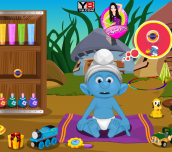 Hra - Smurfs Baby Bathing