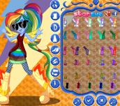 Hra - My Little Pony Rainbow Rocks Rainbow Dash Dress Up
