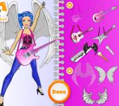 Hra - BarbieInRock'nRoyalsFashionDesignSketchbook