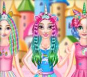 Hra - PrincessesRainbowUnicornHairSalon