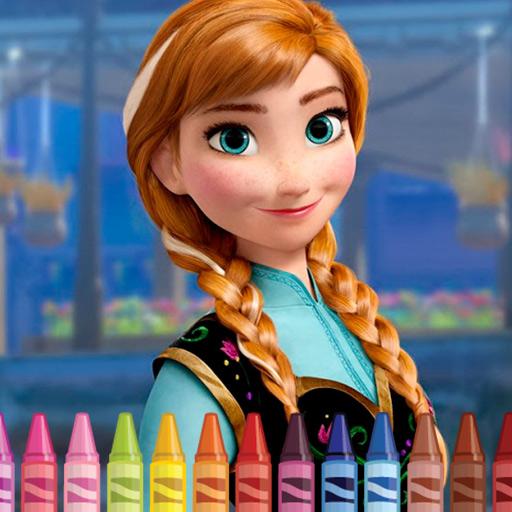 Hra - Anna Frozen Coloring